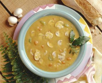Гороховый грибной суп-пюре