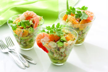 Салат с креветками «Балтика»