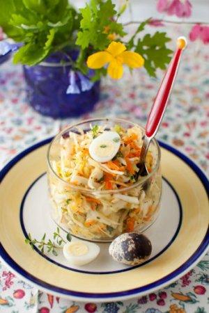 Быстрый салат из свежей капусты