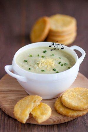 Суп-пюре из цветной капусты и цуккини