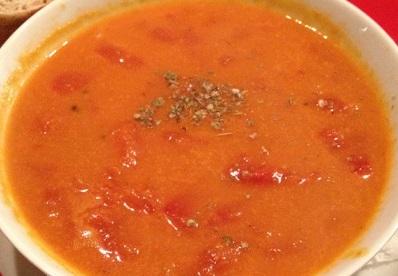 Томатный суп с тыквой