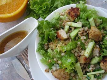 Салат из перловой крупы