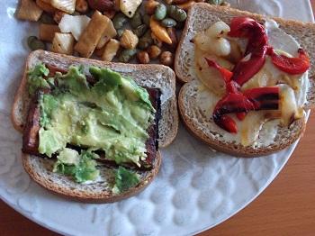 Вегетарианские сэндвичи к завтраку
