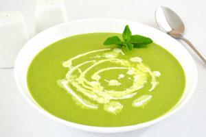 Зеленый гороховый крем-суп