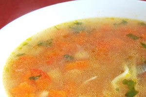 Постный суп из лапши