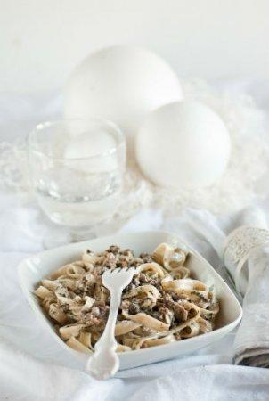 Папарделле с белыми грибами
