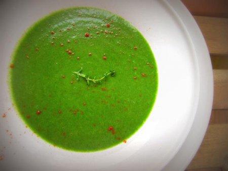 Крем-суп с картофелем и шпинатом