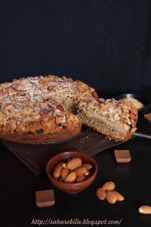 Пирог: Миндаль + Груши