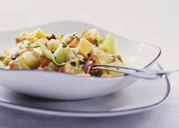 Салат с грибами и сельдереем