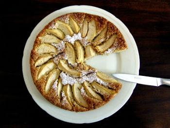 Яблочный овсяный пирог