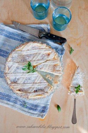 Crostata con crema alla ricotta. Кростата с кремом из рикотты
