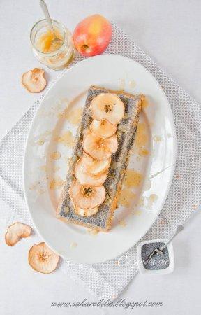 Кекс на оливковом масле с яблочным пюре и маком