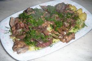 Казан-кебаб с картофелем