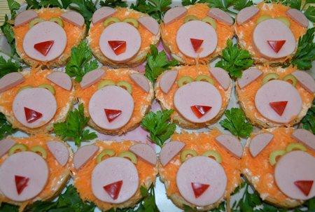 Бутерброды Львята
