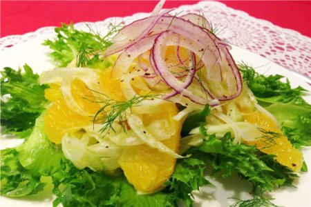 Салат с апельсинами и фенхелем