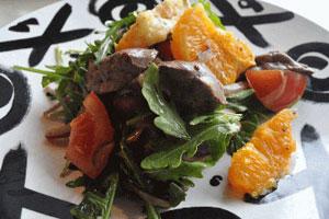 Салат из печени с апельсинами