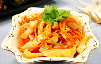 Корейский салат из кальмаров