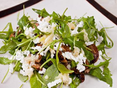 Салат из шампиньонов c сыром