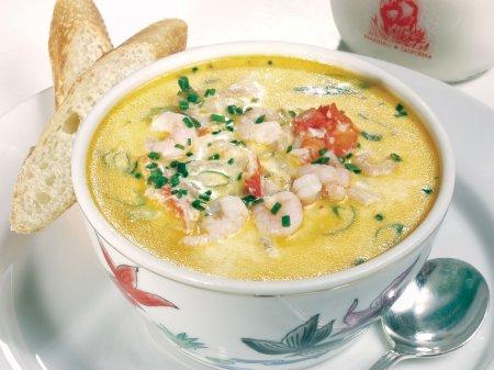 Суп с креветками в мультиварке