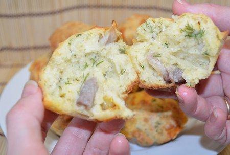 Маффины с сыром и беконом