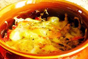 Курица с капустой и картошкой