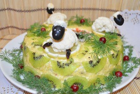 Новогодний салат «Малахитовый Браслет»