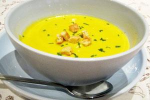 Суп пюре из тыквы и кабачков