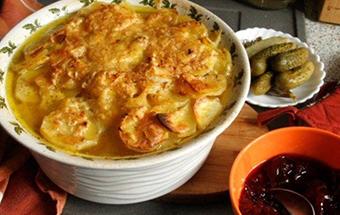 Запеченная картошка с кефиром