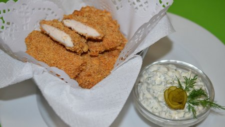 Куриные наггетсы без масла