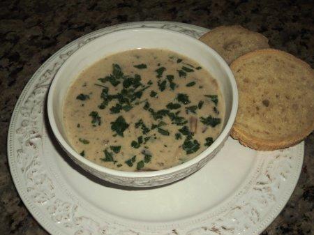 Суп сырно-грибной