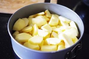 Шарлотка пышная с яблоками