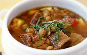 Суп из чечевицы с мясом