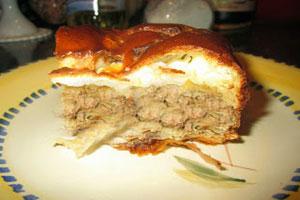 Пирог с мясом на сметане