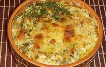 Картошка, курица и грибы в горшочке