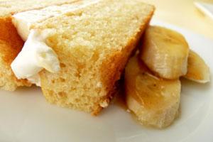 Пирог с творогом и бананами