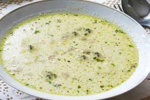 Сырный суп-пюре с грибами
