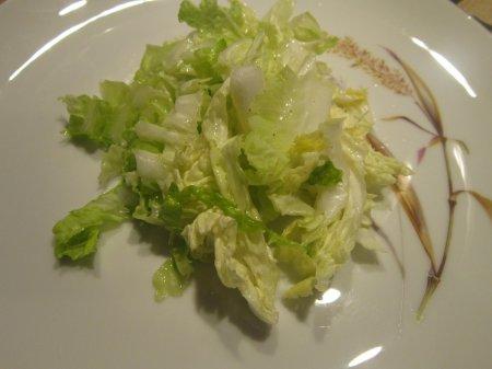 Салат из пекинской капусты с маслом