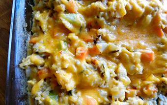 Запеканка с курицей и овощами
