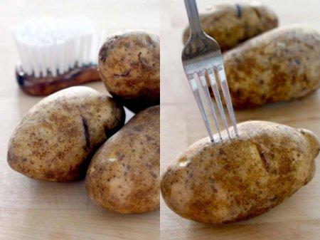 Картофель, запеченный в мундире в духовке
