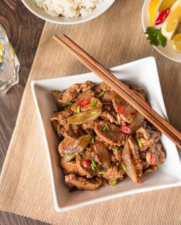 Жареная свинина с пятью китайскими специями