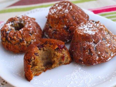 Ореховые кексы с клюквой