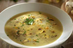 Суп с шампиньонами и сыром