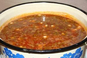 Суп фасолевый постный