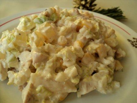 Куриный салат с пекинской капустой