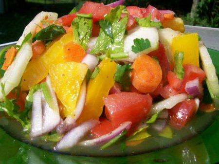 Овощной салат с маслом