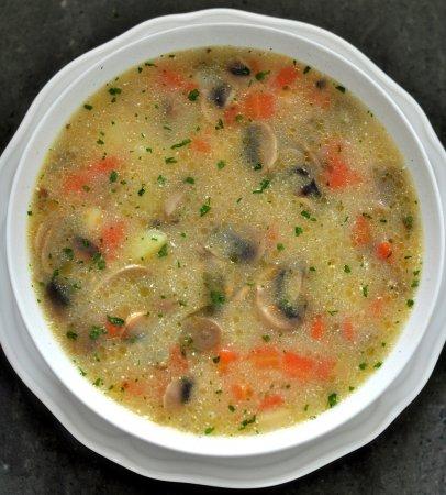 Суп из шампиньонов и моркови