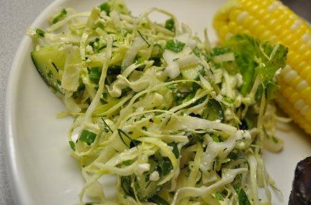 Весенний салат из капусты