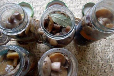 Маринованные грибы с луком