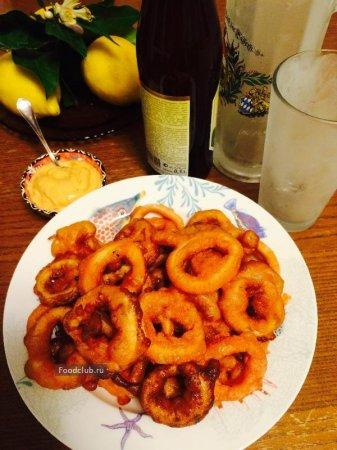 Кольца кальмаров к пиву