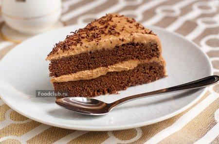 Шоколадно-арахисовый диетический торт